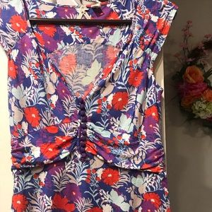 Beautiful cotton floral Anthropologie top by Maeve